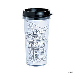 Color Your Own Walk His Way Travel Mugs
