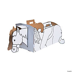 Color Your Own Western Horse Box Costume