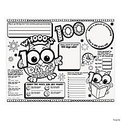 Color Your Own Whooo's 100 Days Wiser Posters