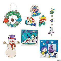 Color Your Own Winter Craft Kit Assortment