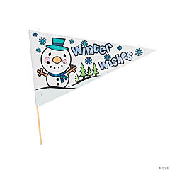 Color Your Own Winter Pennant Flags