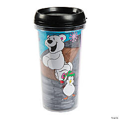 Color Your Own Winter Travel Mugs