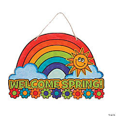 Color Your Own Wood Welcome Spring Sign