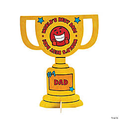 "Color Your Own ""World's Greatest Dad!"" Trophy Stand-Ups"