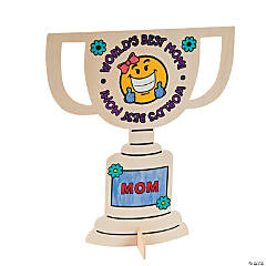 "Color Your Own ""World's Greatest Mom!"" Trophy Stand-Ups"