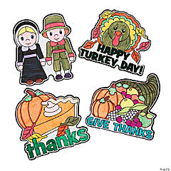 Color Your Thanksgiving Magnets