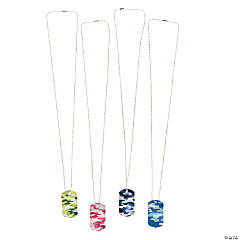 Colorful Camouflage Dog Tag Necklaces