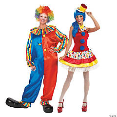 Colorful Clown Couples Costumes