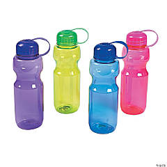 Colorful Contoured Plastic Water Bottles