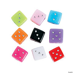 Colorful Dice Beads - 6mm