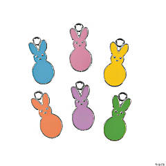 Colorful Enamel Bunny Charms