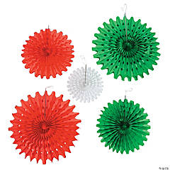 Colorful Fiesta Tissue Hanging Fans