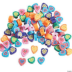 Colorful Heart Beads - 10mm