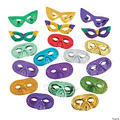 Colorful Mardi Gras Mask Assortment