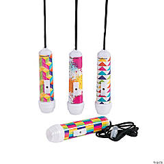Colorful Printed Mini Flashlights on a Rope