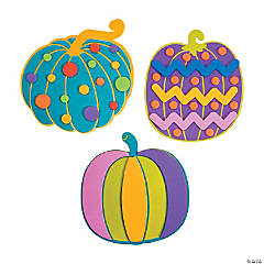 Colorful Pumpkin Magnet Craft Kit