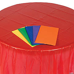 Colorful Round Plastic Tablecloth Assortment