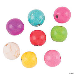 Colorful Stone Round Beads