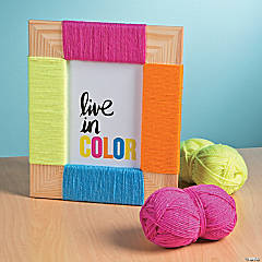 Colorful Yarn Frame Idea