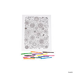 Coloring Canvas Kit - Floral