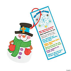 """Colors of Faith"" Snowman Christmas Ornaments with Card Craft Kit"