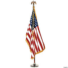 Complete Mounted U.S. Flag Set