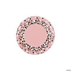 Confetti Design Paper Dessert Plates