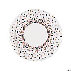 Confetti Design Paper Dinner Plates