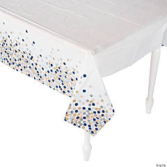 Confetti Design Plastic Tablecloth