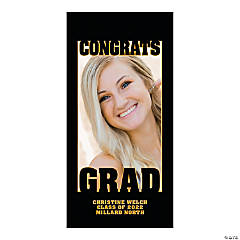 Congrats Grad Autograph Custom Photo Door Cover