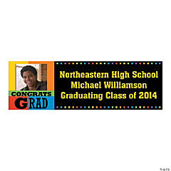 """Congrats Grad"" Custom Photo Banner"