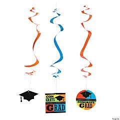Congrats Grad Hanging Swirls