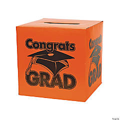 """Congrats Grad"" Orange Card Box"