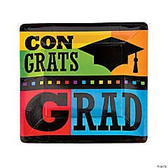 """""""Congrats Grad"""" Paper Dinner Plates"""