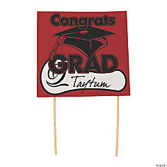 Congrats Grad Yard Sign - Red