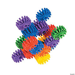 Connecting Gear Shapes Building Blocks Set