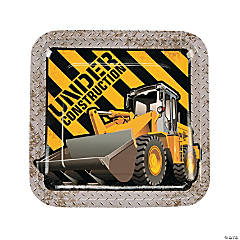 Construction Zone Paper Dinner Plates
