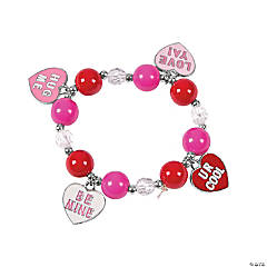 Conversation Heart Charm Bracelet Craft Kit