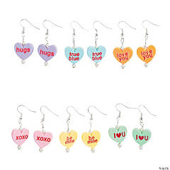 Conversation Heart Earrings Craft Kit
