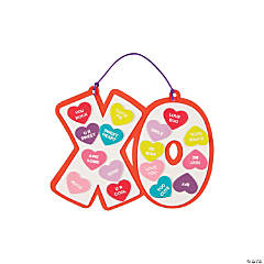 Conversation Heart XO Sign Craft Kit