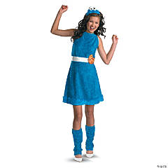 Cookie Monster Tween Girl's Costume
