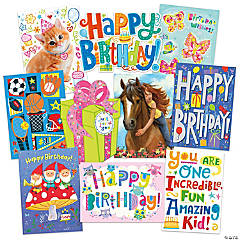 Cool Birthday 10 Card Assortment Pack