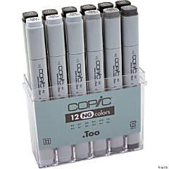 Copic Original Markers Set 12/Pkg-Neutral Gray