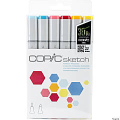 Copic Sketch Markers 5/Pkg W/Multiliner Pen-Perfect Primaries