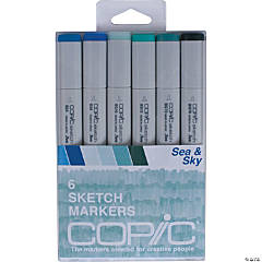 Copic Sketch Markers 6/Pkg-Sea & Sky