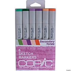 Copic Sketch Markers 6/Pkg-Secondary Tones