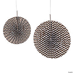 Copper Chevron Hanging Fans