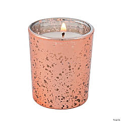 Copper Mercury Glass Votive Candle Holders