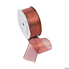 Copper Wired Metallic Sheer Ribbon - 1 1/2