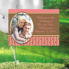 Coral & Copper Custom Photo Yard Sign